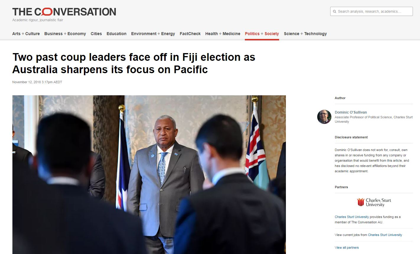 The Conversation - Fijian election