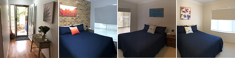 Composite of the various bedrooms