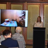 Samantha Bews presented a paper titled: Using Theatre – Imagination, Experience & Vision – to create public awarenes about dementia on Monday 28 October. Photograph by Sarah Stitt