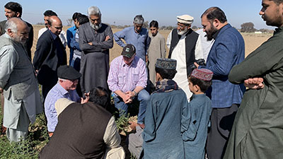 discussions with farmers
