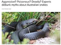 Debunking myths about Australian Snakes