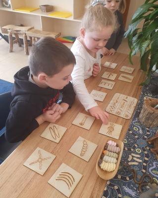 Two children playing at Uranquinty preschool