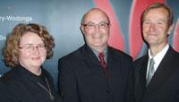 Margaret and Brett Van Heekeren with Professor Anthony Cahalan (centre), Dean of the CSU Faculty of Arts