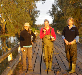 Research team in Murrumbidgee Project