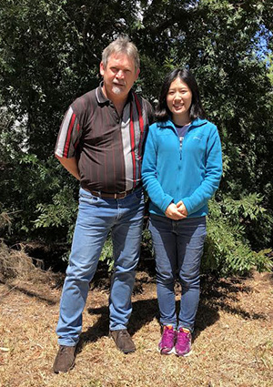 Dr David Hopkins and visiting meat scientist Dr Yimin Zhang