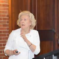 Associate Professor Ann Harrington gave a paper: Confronting Ageism. The voices of baby boomers as to what constitutes 'healthy ageing' on Monday 28 October. Photograph by Sarah Stitt