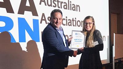 Kayla Kopp was awarded a scholarship by the Australian Association of Ruminant Nutrition