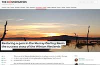 Winton Wetlands The Conversation June 19