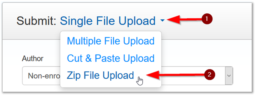 Turnitin select zip upload