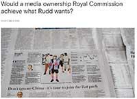 Media owneship Royal Commission