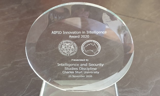 Industry award for new postgraduate intelligence analysis course