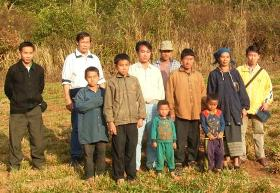 Hmong farmers in their field