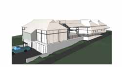 An artist's impression of the Experimental Winery under construction at CSU.