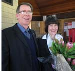 Head of Wagga Campus Mr Adrian Lindner says farewell to Professor Lyn Gorman.
