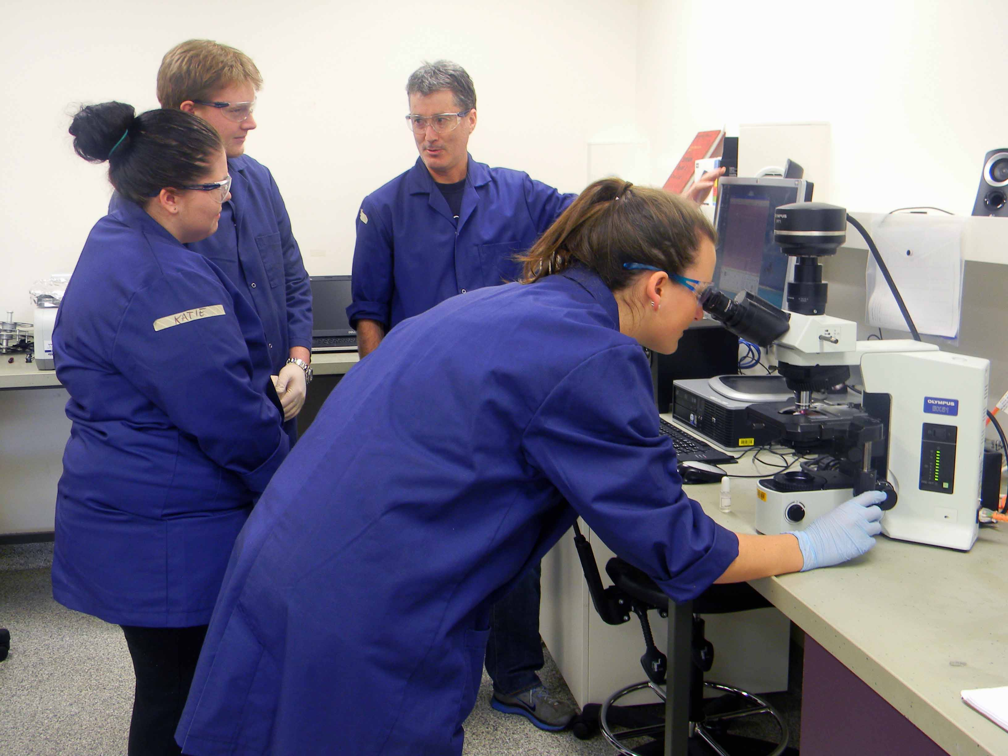 CSU clinical science students undertake a research project.