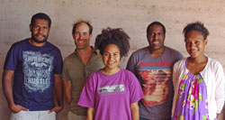 (L to R) Daniel Okena, Dr Andrew Peters, Heather Taitibe, Wallace Takendu, and Tania Areori