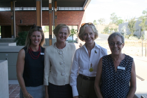 Ms Toni Nugent, Ms Lucinda Corrigan, Governor-General, Ms Quentin Bryce AC CVO and Professor Deirdre Lemerle