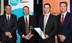 2015 EPIA Award, Mr Stephen Cartwright NSW Business Chamber, Mr Stephen Butt CSU, Mr Ed Maher CSU, Mr Terry Bailey Office of Environment and Heritage