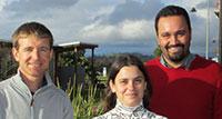 Dr Lee Baumgartner, Lorena Nogueira and Professor Luiz Silva.