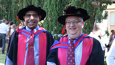 Dr William Kerua and Dr Albert Schram Vice Chancellor PNG University of Technology