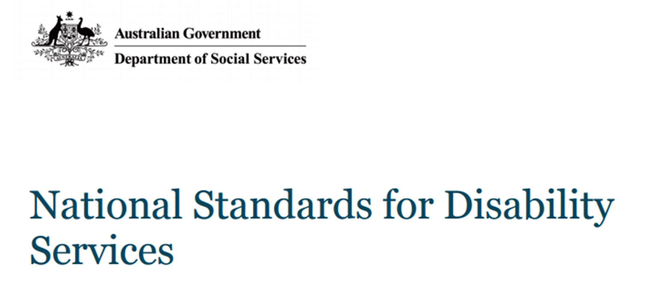 National Standards for Disability Services