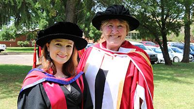 Dr Rebecca Heim and supervisor Associate Professor Gaye Krebs