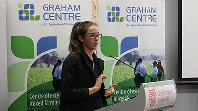 Honours student Sabrina Meurs