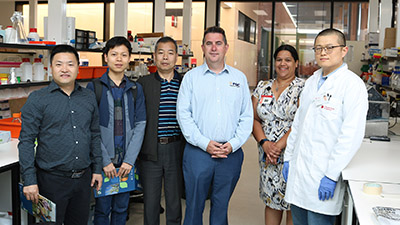 a delegation from the College of Food Science and Technology, Nanjing Agricultural University in China