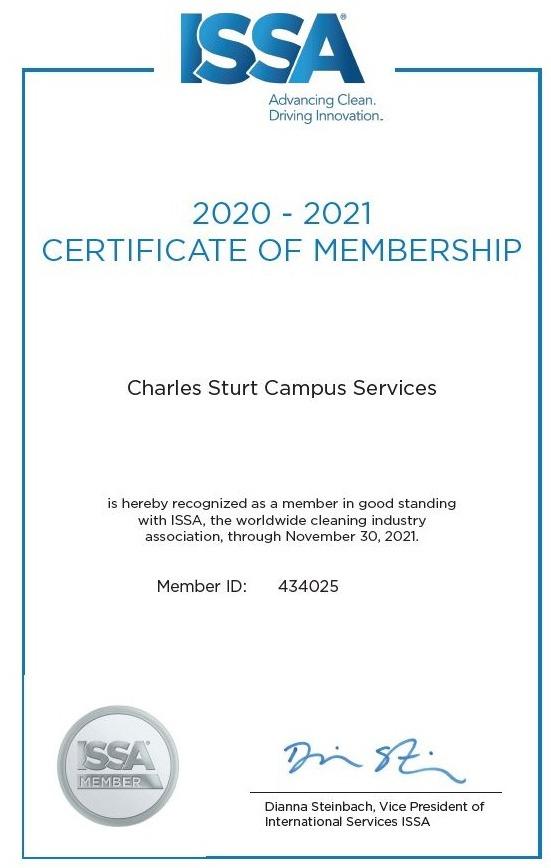 ISSA Membership Certificate