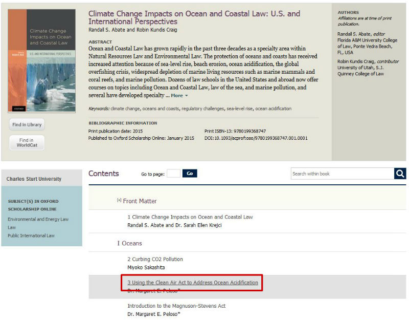 screen sample of the Oxford website with a chapter title highlighted