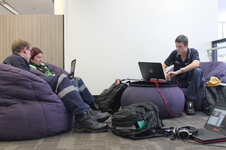 24/7 Learning Commons bean-bags