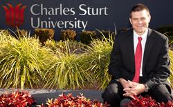 Professor Andrew Vann, the new Vice-Chancellor and President of Charles Sturt University.
