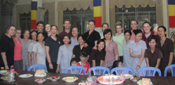 CSU students, staff and children at the Chua Ky Quang orphanage in Ho Chi Minh City in Vietnam