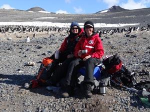 CSU researchers Dr Melanie Massaro and Dr Alison Matthews having a