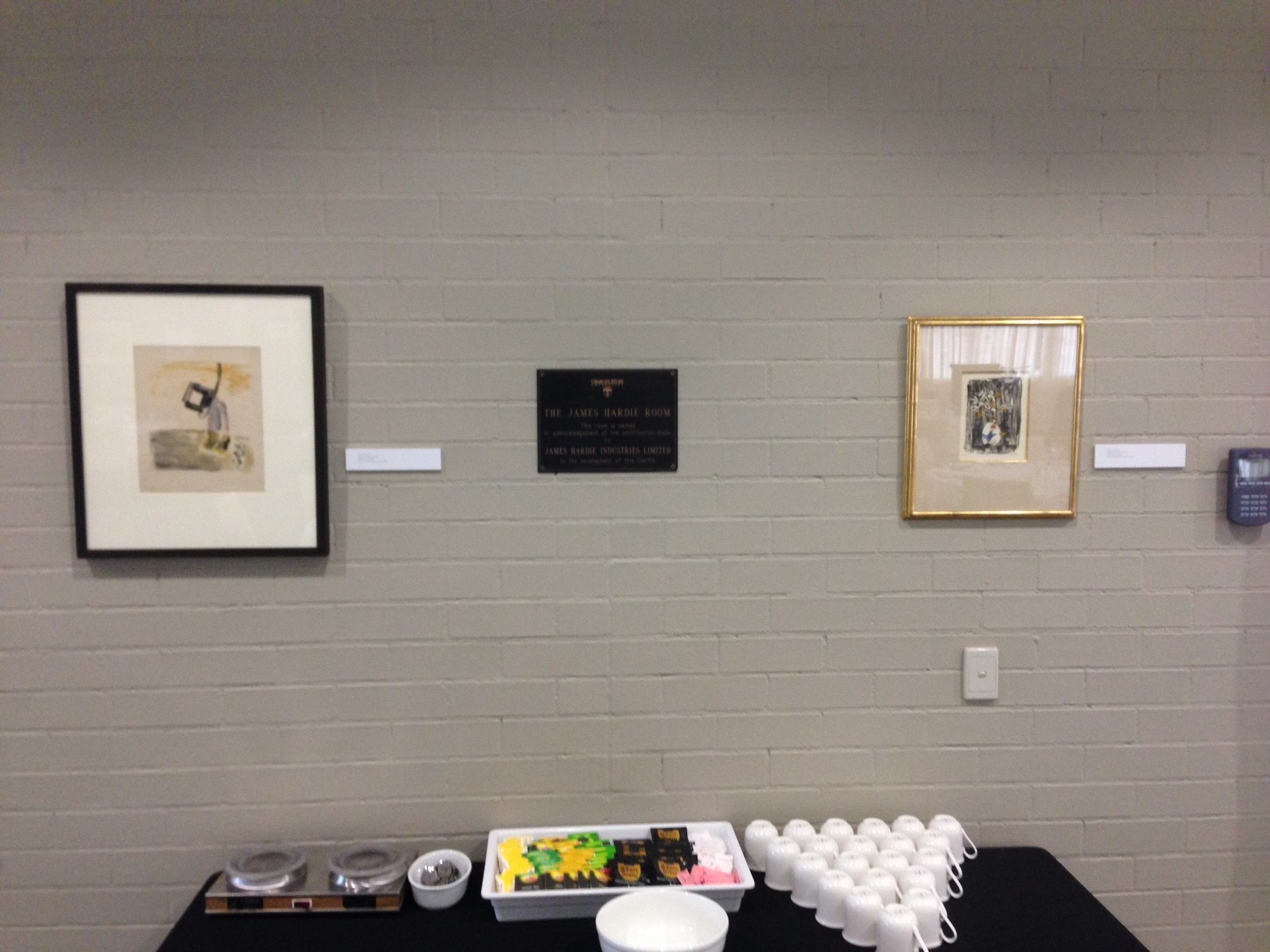 Artwork on display at the Chancellor's installation in 2014