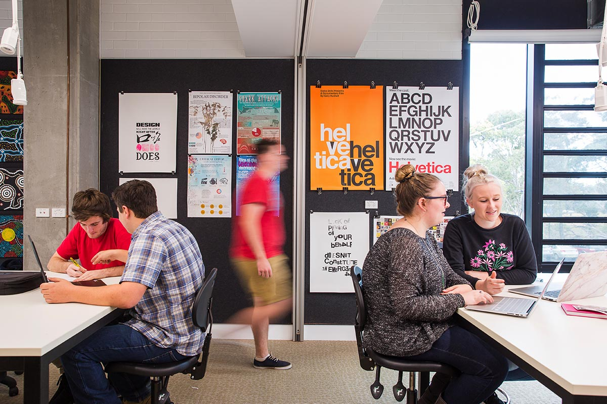 Collaborate with other students in our new design studios at Port Macquarie.