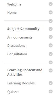 content menu