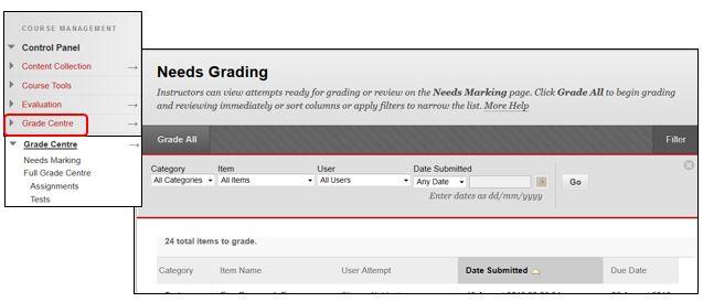 Grading assessments
