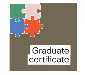 Four micro-subjects shown as part of a graduate certificate.