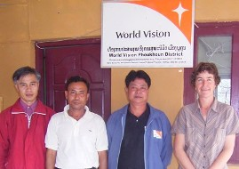 EASLP and World Vision Laos staff, partners in the L4PP project