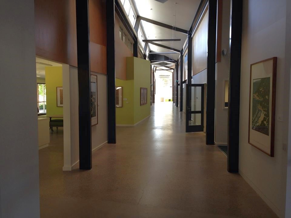 Artworks by Treahna Hamm, Dianne Fogwell and others adorn the walls of the newly built Wangaratta Campus