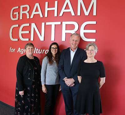 CSU DVC RDI Professor Mary Kelly, Acting Graham Centre Director Associate Professor Marta Hernandez-Jover, CEO of the Soil CRC Dr Michael Crawford and CSU Associate Professor Catherine Allan.
