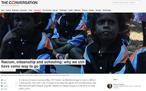 The Conversation - Racism, citizenship and schooling