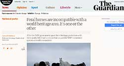 The Guardian - Feral horses in National Parks