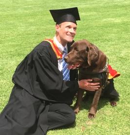 Mr Daniel Searle and Bear at Graduation in 2014