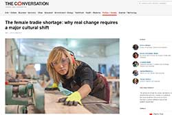 The Conversation - Female Tradie Shortage