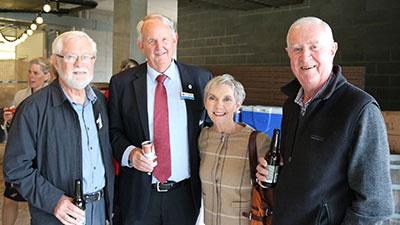 Gordon Murray, Wagga Mayor Greg Conkey, AgriFutures Australia Chair Kay Hull, Emeritus Professor Ted Wolfe