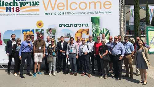 Professor Michael Friend (third from the right) in Israel