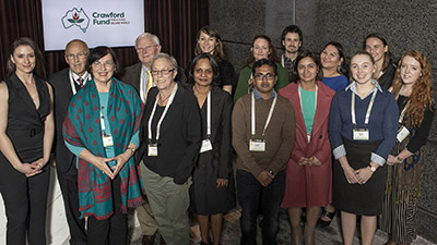 photo of NSW Crawford scholars and their mentors