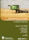 Developments in stubble retention in cropping systems in southern Australia